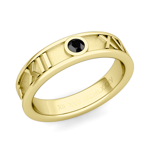 Roman Numeral Wedding Ring Roman Numeral Wedding Band 18k