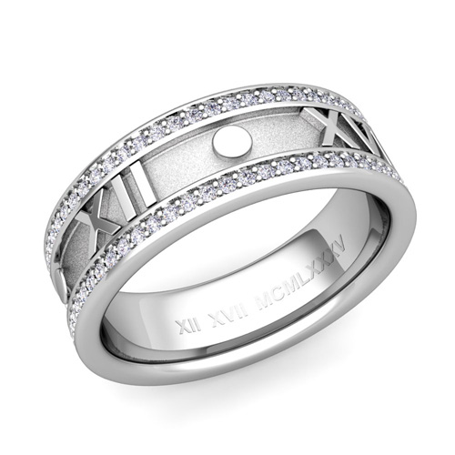 Roman Numeral Wedding Ring Custom Roman Numeral Wedding