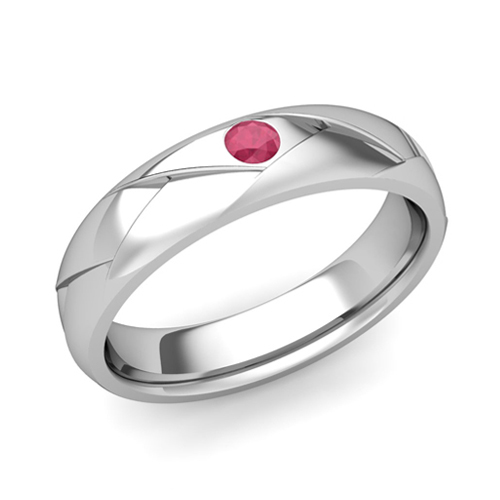 solitaire-ruby-anniversary-ring-in-14k-gold-shiny-wedding-band-6-5mm-1 ...