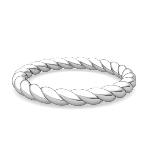 Twisted Cable Wedding Anniversary Ring 14k Gold My Love Wedding Ring