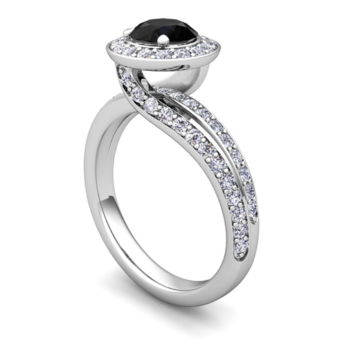 Black Diamond Ring: Black Diamond Ring And Band Sets