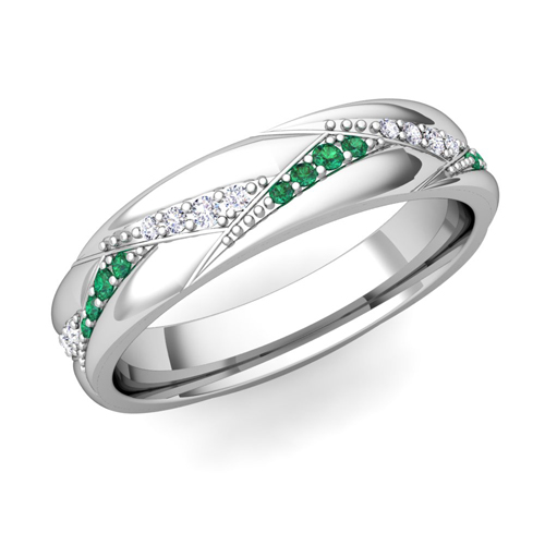 order now ships on tuesday 130order now ships in 5 business days - Emerald Wedding Ring