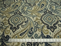 1 1/2 yards of Fabricut Caravelle cobalt blue paisley upholstery fabric
