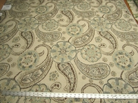 "1 1/2 yards of Fabricut ""Darlington"" color beryl paisley upholstery fabric"