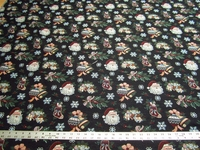 1 1/2 yd Christmas Santa Claus tapestry upholstery fabric