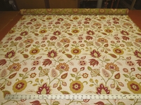 1 1/4 yards of floral tapestry upholstery fabric