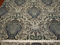 1 1/4 yards of Oriental vase upholstery fabric