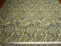 1 1/8 yards Fabricut Caravelle willow paisley upholstery fabric