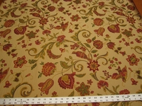 1 1/8 yards of bird and floral tapestry upholstery fabric