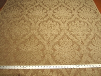 1 1/8 yards of chenille brocade patterned upholstery fabric