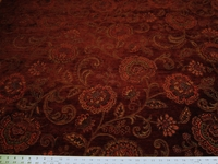 1 3/4 yards of rich floral chenille upholstery fabric