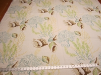 1 3/8 yards of Casamance Seashell print upholstery fabric