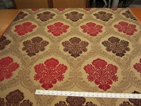 1 5/8 yards floral bouquet chenille mix upholstery fabric r1723
