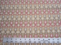 1 5/8 yards of geometric scroll design upholstery fabric