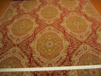 1 7/8 yards Luciano Ruby southwest patterned chenille upholstery fabric
