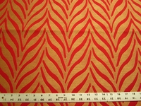 1 7/8 yards tiger stripe upholstery fabric