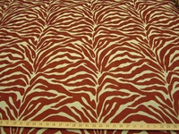 1 yard Caris Tiger Stripe Chenille mix Upholstery Fabric