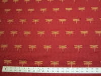 1 yard of dragonfly patterned jacquard upholstery fabric