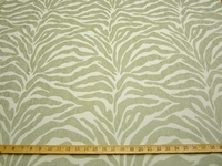 2 1/2 yards Caris Celadon Tiger Stripe Chenille mix Upholstery Fabric