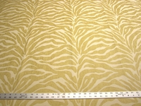 2 1/2 yards Caris Yellow Tiger Stripe Chenille mix Upholstery Fabric