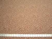 2 1/2 yards of cheetah skin red upholstery fabric