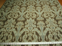 2 1/2 yards of ikat design upholstery fabric