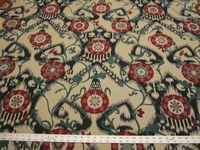 2 1/2 yards of ikat medallion upholstery fabric r1039