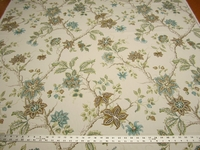 2 1/2 yards of Robert Allen Meadowview capri floral drapery fabric