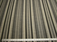 2 1/2 yds Rocco Pewter Textured Stripe Upholstery Fabric