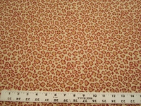 2 1/4 yards of cheetah skin red upholstery fabric
