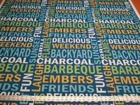 2 1/4 yards of Solarium backyard fun outdoor upholstery fabric