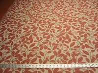 2 1/4 yards of textured leaf upholstery fabric