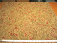 2 1/4 yards paisley design tapestry upholstery fabric