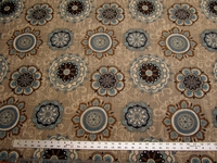 2 1/8 yards of Fabricut Chanterelle medallion tapestry upholstery fabric