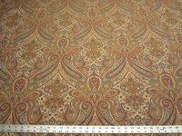 2 1/8 yards of Fabricut Perugia color confetti paisley upholstery fabric