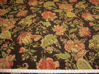 2 1/8 yards of floral tapestry upholstery fabric