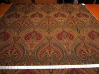 2 1/8 yards of rich paisley pattern upholstery fabric