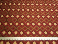 2 1/8 yards of Robert Allen Hombre red hot upholstery fabric