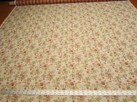 2 1/8 yards rose pattern tapesty upholstery fabric