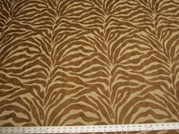 2 3/4 yards Caris Brown Tiger Stripe Chenille mix Upholstery Fabric