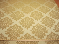 2 3/4 yards of soft gold damask upholstery fabric