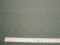 2 3/4 yards of teal basket weave chenille upholstery fabric r2076