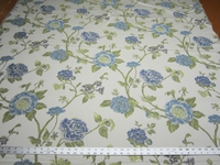 2 3/4 yards Robert Allen Large Buds Bluebell floral upholstery fabric