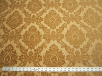 2 3/8 yards of gold chenille damask upholstery fabric
