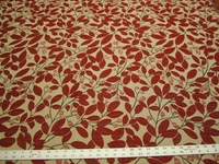 2 3/8 yards of textured leaf upholstery fabric