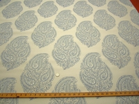 2 3/8 yards Okemo bluebell paisley upholstery fabric by Robert Allen