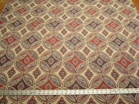 2 3/8 yards San Miguel color Caliente Red geometric upholstery fabric