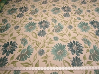 2 3/8 yards tropical floral upholstery fabric r1152