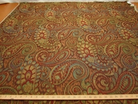 2 3/8 yds Tamil Paisley uph & drapery fabric color Henna by Robert Allen