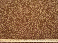 2 5/8 yards of Leopard Spots Chenille Mix Upholstery Fabric